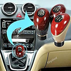 Tiny Deal Manual Pu Leather Car Motor Gear Shift Lever Gear Knob Shifter Rth-350803 - Beige