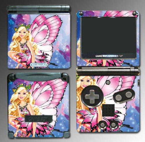 Barbie Princess Fairy Girl Game Vinyl Decal Cover Skin Protector 2 Nintendo GBA SP