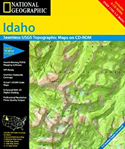 Amazon.com: National Geographic TOPO! Idaho Map CD-ROM (Windows): GPS