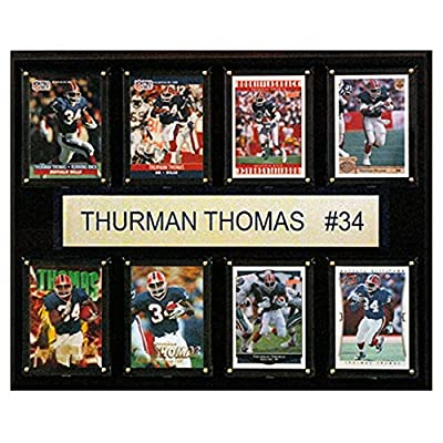 C and I Collectables NFL 15W x 12H in. Thurman Thomas Buffalo Bills 8 Card Plaque