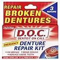 Dentemp Denture Repair Emergency Denture Repair Kit  Safe & Easy To Use- 3 Repairs
