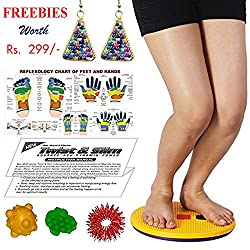 Tummy Trimmer Acupressure Twister (Pyramids n Magnets) Useful for Figure Tone-up, Spine Fitness, Abs Trimming, Weight Reduction, Headache, Tension, Gastric, Acidity, Backache, Sciatica, Knee Pain, Leg Pain with Freebies BY ESCOR Byzantine International Private Limited--Super INDIA Store