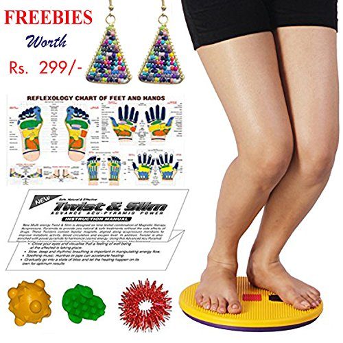"Tummy Trimmer Acupressure Twister (Pyramids n Magnets) Useful for Figure Tone-up, Spine Fitness, Abs Trimming, Weight Reduction, Headache, Tension, Gastric, Acidity, Backache, Sciatica, Knee Pain, Leg Pain with Freebies BY ESCOR Byzantine International Private Limited–""Super INDIA Store"""