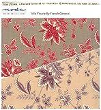 moda fabrics 【30cm以上】Moda 大人気French General フランスのアンティーク柄のような色合いが特徴♪花柄プリント生地◆モダの布地 【モーダ】【輸入生地】【USAコットン】【手芸の柳屋】 13 赤系