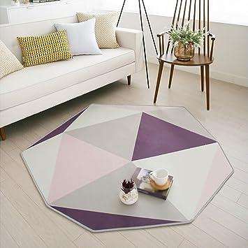 Habitación moderna simple de la cama de la cabecera Sofá de la mesa de centro Estera de arrastre de la alfombra casera ( Color : B , Tamaño : 180cm*165cm )