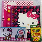 Hello Kitty 7 Pc Stationery Set With Coloring Book And Crayola Crayons