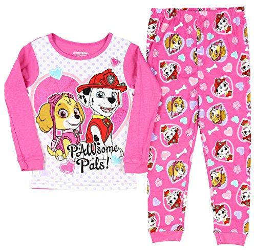 Paw Patrol Little Girls' Pawsome pals Long Sleeve Pajama Set