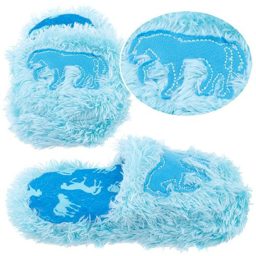 Cheap Lazy One Blue Fuzzy Horse Slippers for Girls (B005HEIN76)