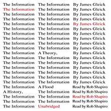 The Information: A History, a Theory, a Flood Audiobook by James Gleick Narrated by Rob Shapiro
