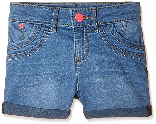 United Colors of Benetton Baby Girls Shorts (16P4DENC0120I901_Light Blue Wash_0Y)