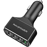 RAVPower RP-VC003B Quick Charge 3.0 54W 4-Port Car Charger (Black)