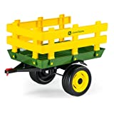 Peg Perego John Deere Stakeside Trailer Ride On, Green (Color: Green, Tamaño: 26.50 x 16.50 x 18.75 Inches)