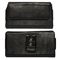 DMG Leather Pouch Belt Clip Holster Case for Nokia X (Black)
