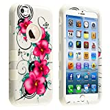 Product B00MG8IUJW - Product title MYBAT Tuff Hybrid Protector Cover for iPhone 6 - Retail Packaging - Morning Petunias/Solid White