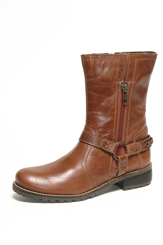 Gabor Mima Kids Schuhe Stiefel Leder 351 02 wasserabweisend cognac Buff burnish waxy, Schuhe Kinder:31
