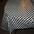 "Plastic Checkered Tablecover,54"" x 108"" from US Toy"