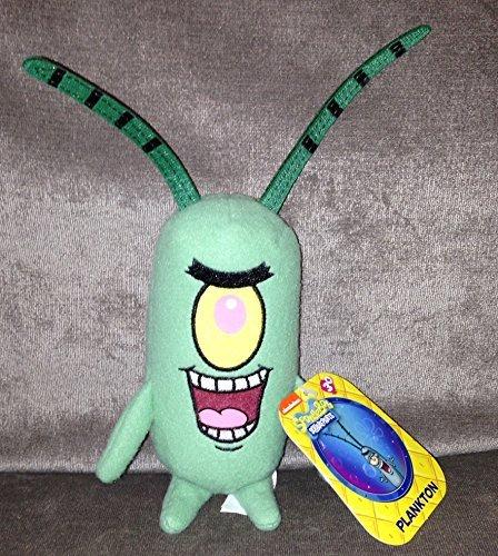 Spongebob Squarepants Plankton 6 Inch Plush Figure Nickelodeon