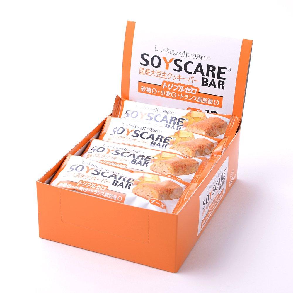 【糖質制限ダイエットにピッタリ】ソイズケアバー【チーズ味 12本入】砂糖ゼロ・小麦粉ゼロ・トランス脂肪酸ゼロのトリプルゼロ