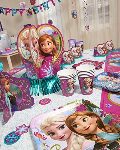Home kids disney frozen table decorations kit birthday for Anna decoration in home
