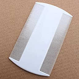 Children Pet Flea Comb White Durable Nit Combs for Head Lice
