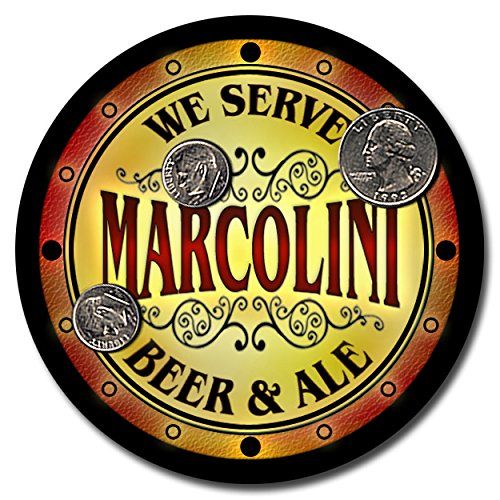 marcolini-family-name-beer-and-ale-rubber-drink-coasters-set-of-4