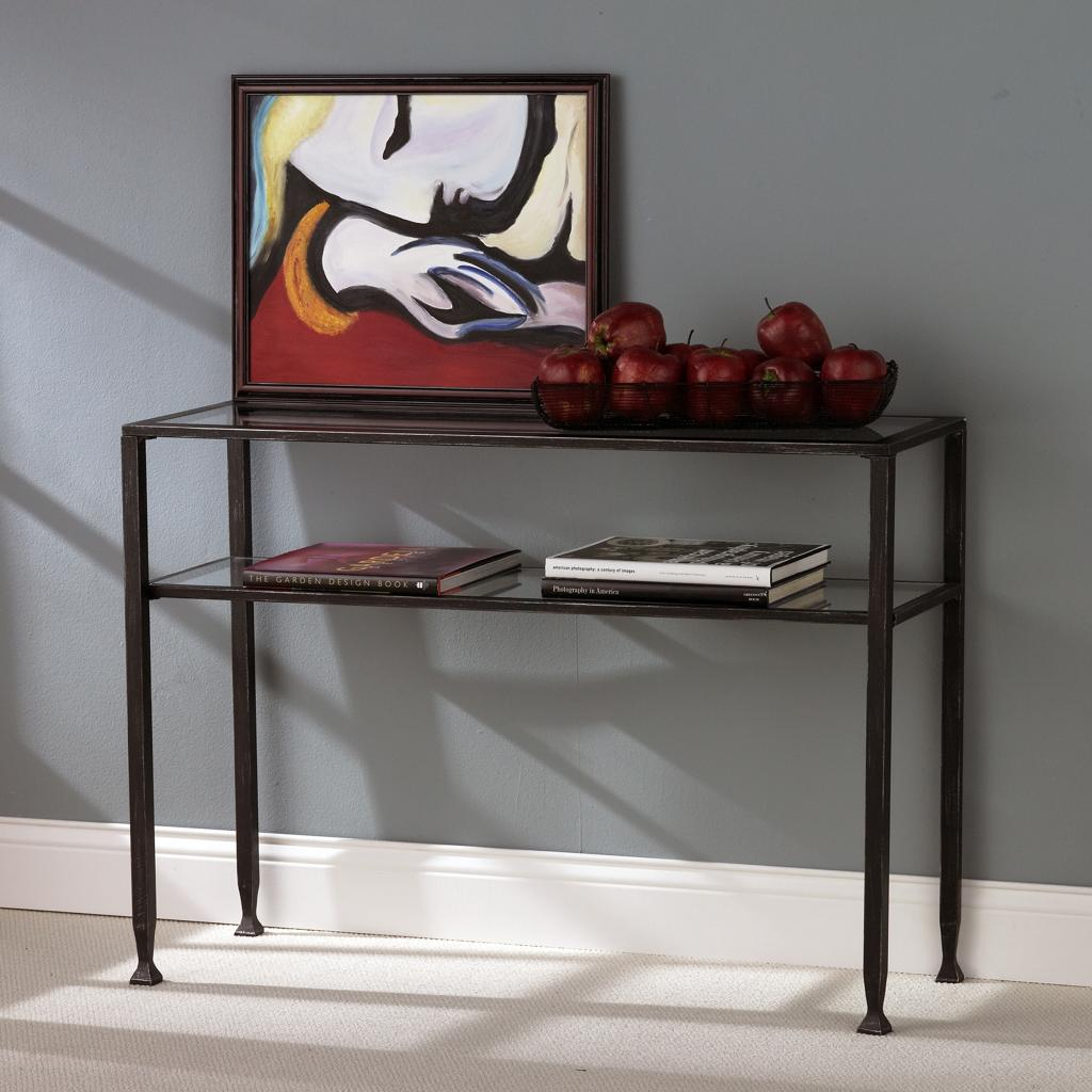 Sei bunching metal sofa table iron glass Metal console table