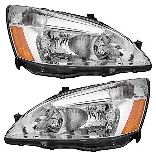 Driver and Passenger Headlights Headlamps Replacement for Honda 33151-SDA-A01 33101-SDA-A01 (Honda Accord 2007 Headlights compare prices)
