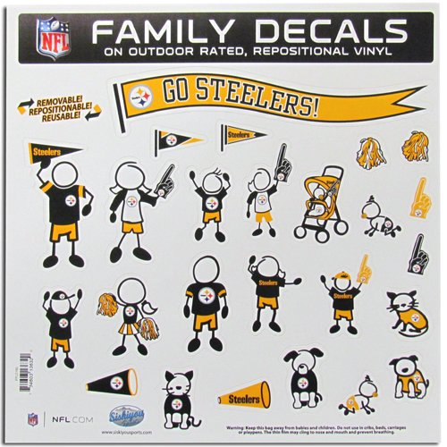 Siskiyou Pittsburgh Steelers NFL Family Car Decal Set (Large) SIS-FFLD160 (Steelers Family Car Decals compare prices)