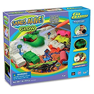 Sands Alive Glow Sand Car Crashers Kit