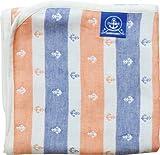 エムール ベビー用 ガーゼケット 90×120cm イカリボーダー 日本製 サンセットオレンジ [Baby Product] [Baby Product] ランキングお取り寄せ