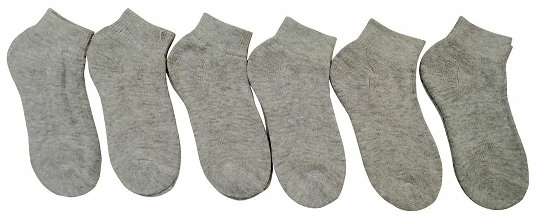 6 Pairs of Children's Ankle Socks, Low Cut, Quarter Length, Unisex, Cotton bs c27 3463 cotton men s socks for men white free size 7 pairs