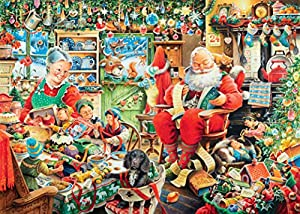 Ravensburger Limited Edition 2015 Santa's Final Preparations 1000 Piece Jigsaw Puzzle
