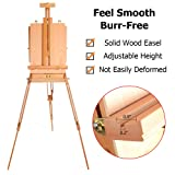 ShowMaven HX-3 Art Easel, Wooden Drawing Floor Easel Stand, Oil Painting Watercolor Sketch Box, French Artist Travel Tripod Adult Easel with Storage, Collapsible Plein Air Protable Outdoor (Tamaño: French Easel)