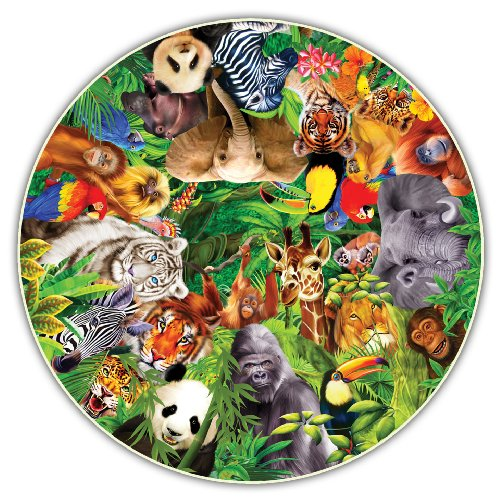 Round Table Puzzle - Wild Animals (500 Piece)