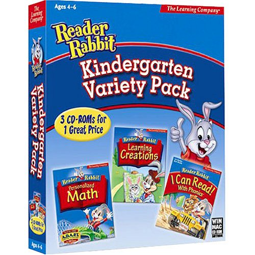 RIVERDEEP Reader Rabbit Kindergarten Variety Pack ( Windows/Macintosh )