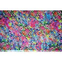 Aagaman Fashions Faux Georgette Fabrics (TSFD014_Light Purple)