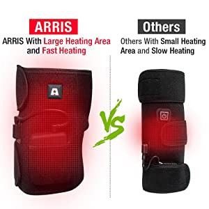 Heated Knee Brace Wrap Support/Therapeutic Electric Heating Pad W/Rechargable 7.4V 2600Mah Battery for Joint Pain, Arthritis Meniscus Pain Relief (3 Temperature Setting) by Arris (1PCS) (Color: White, Tamaño: Small/Medium)
