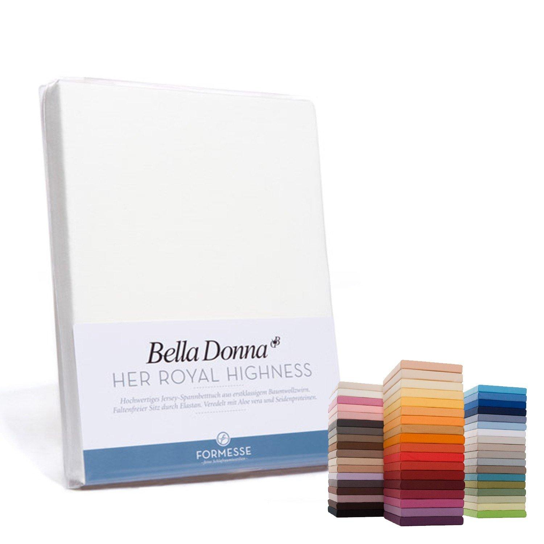 Bella Donna Jersey Spannbettlaken 180/200 – 200/220cm – 0114 (Wollweiss) günstig bestellen