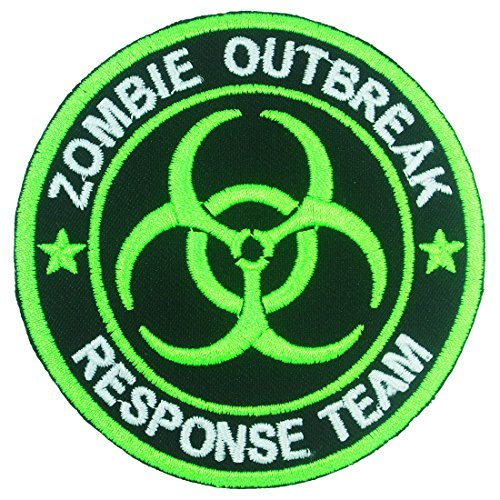 Zombie Outbreak Response Team Logo Badge Iron on Embroidered Patches (Cheap Iron On Patches compare prices)