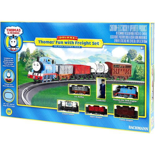 Kids Train Play Set Thomas The Tank Engine Open Wagon Conductor Figure