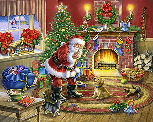 No Barking Christmas Jigsaw Puzzle 1000 Pieces - Santa and Dogs and Cats