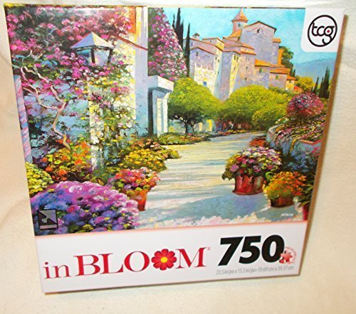 "TCGTOYS 750 Piece Puzzle - inBloom Series - 23.5"" by 15.5"" - Blissful Burgundy is the image"