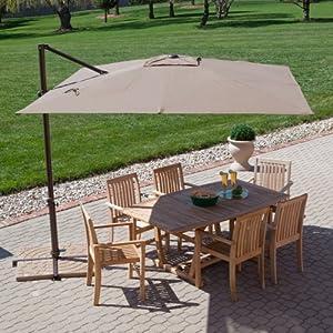 Spectacular Treasure Garden ft Square Offset Patio Umbrella Patio Furniture