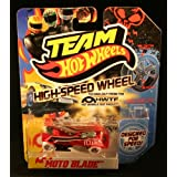 Team Hot Wheels High Speed Wheels - Moto Blade (Red And White)
