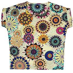 Kobwa(TM) Classic Batwing Sleeve Chiffon Shirt Chiffon Top With Kobwa's Keyring
