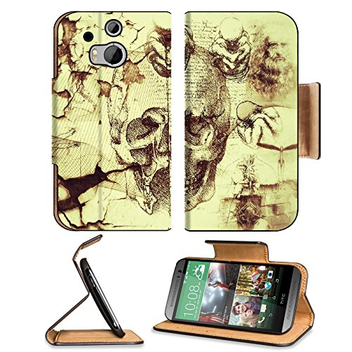 Davinci Artifacts Abstract Kreatiff Design Htc One M8 Flip Case Stand Magnetic Cover Open Ports Customized Made To Order Support Ready Premium Deluxe Pu Leather 6 4/16 Inch (158Mm) X 3 4/16 Inch (82Mm) X 9/16 Inch (14Mm) Luxlady Htc1 Cover Professional M front-1014699