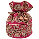#5: Craft Trade Multicolour Rajasthani Print Party Wear Pouch Potli