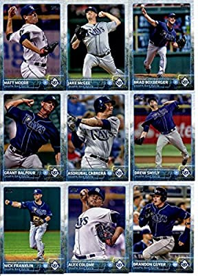 2015 Topps Baseball Cards Tampa Bay Rays Team Set (Series 1 & 2 - 21 Cards) Including David DeJesus, Alex Cobb, Jake Odorizzi, James Loney, Evan Longoria, Matt Joyce, Chris Archer, Logan Forsythe, Kevin Kiermaier