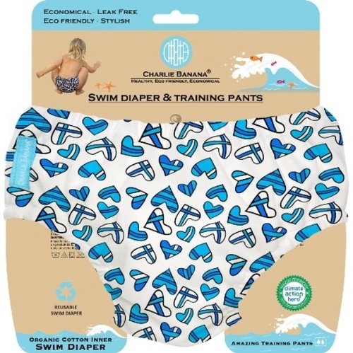 Charlie Banana 889613 Medium 2 in 1 Swim Diaper and Training Pants - The William
