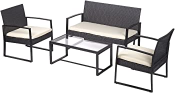 FDW Outdoor 4-Pc. Patio Sofa Set